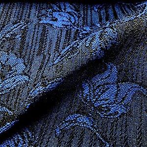 Tecido Para Sofá Jacquar Azul Floral  - Havana 41