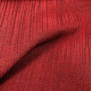 Tecido Para Sofá Jacquar Vermelho Linhas - Havana 45