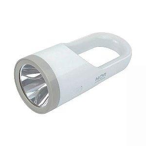 Lanterna 160 Lumens Luminária Recarregável Branca Led Bivolt - Mor 009187