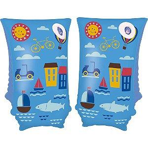 Boia De Braço Piscina E Praia Infantil Mor 30cm X 15cm Azul