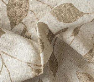 Tecido para Sofá e Estofado Impermeabilizado Caqui Folha - AST- 15