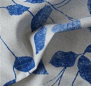 Tecido para Sofá e Estofado Impermeabilizado Azul Folha - AST- 39