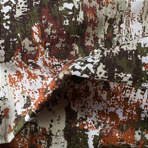 Tecido para Sofá e Estofado Impermeabilizado Laranja, Musgo Granito - AST- 48