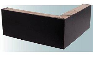 Pe para sofá de madeira cantoneira Imbuia Largura 20x20cm com 8 cm de altura - M74