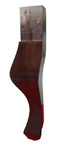 Pé para sofá de madeira Cor Imbuia - Cachimbo Beger Modelo Luiz XV para Sofás, Estofados, Puffs - 21 cm