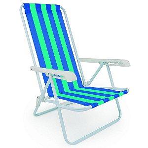 Cadeira Praia, Piscina e Camping 4 posições Mor Aço 2004  Cor Sortidas