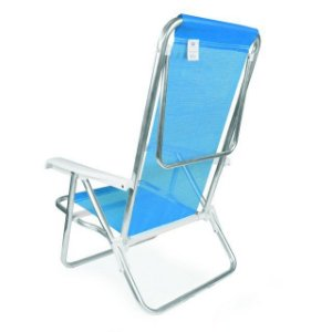 Cadeira RECL 8 POS ALUM - Azul - MOR