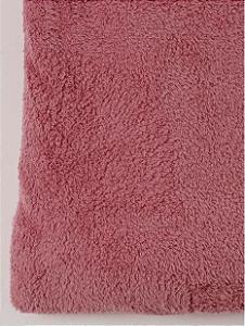 Manta Solteiro Rosa Batom Microfibra Corttex Home Design 2,00 x 1,50 mts