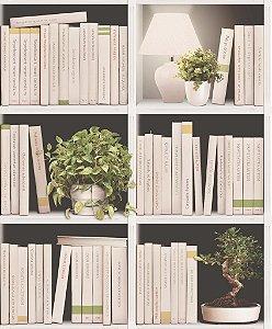 Papel de parede Estante de Livros e Vazos Replik J793-07