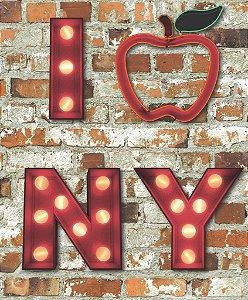 Papel de Parede Freestyle Estilo Muro de Tijolos I Love NY - 102536