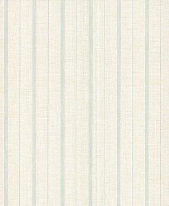 Papel de Parede Garden Listras Azul Claro e Branco - SZ003050
