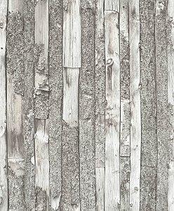 Papel de Parede Vinílico Picasso estilo Amadeirado Cinza  L21209