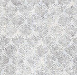 Papel de Parede Vitoriano Formas Geométricas em tons de Cinza SZ-003331