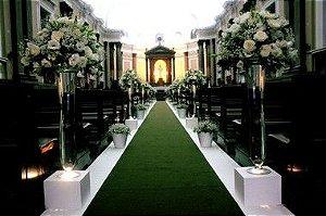 Passadeira Carpete 2m Largura Verde Para Casamento, Festas 20 Metros de comprimento