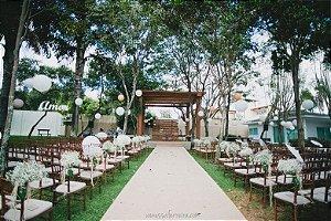 Passadeira Tapete Branco Para Casamento, Festas 5 Metros de comprimento