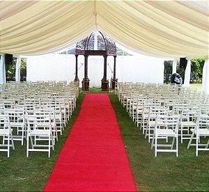 Passadeira Tapete Vermelho Para Casamento, Festas 15 Metros de comprimento