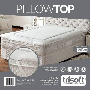 Pillow Top Queen Size - 1,60m X 2,00m - Fibras Petfom Trisof