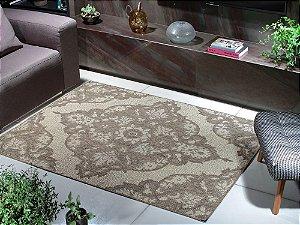 Tapete para Sala Sisal Antiderrapante com Quina de Proteção Mesclado Floral - S484 - 1,50x2,00