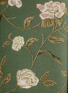 Tecido algodão impermeabilizado Flora Verde Sev 23