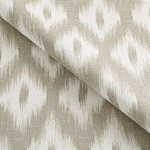 Tecido algodão impermeabilizado ikat Linhão Creme e Bege Sev 12