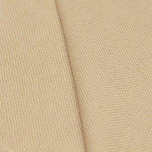 Tecido algodão Jacquard Impermeabilizado Bege Claro Liso - Aus 14