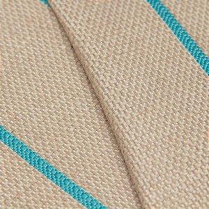 Tecido algodão Jacquard Impermeabilizado Cru Escuro Linha turquesa - Aus 03