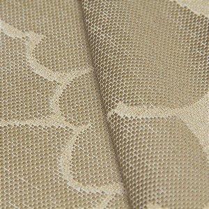 Tecido algodão Jacquard Impermeabilizado Floral Bege - Aus 13