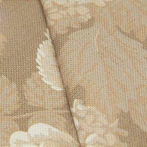 Tecido algodão Jacquard Impermeabilizado Floral Tons de Bege - Aus 15