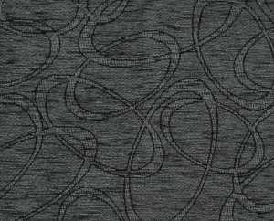 Tecido Chenille Abstrato Cinza Chumbo - Pol 27