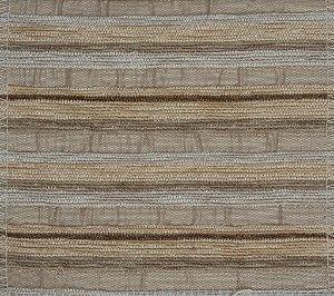 Tecido Chenille Listrado Areia, Bege e Marrom - Pol 01