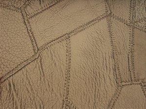 Tecido courvin costurado Caramelo e Marrom - 05