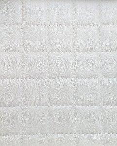 Tecido courvin estilo perfurado leve brilho Branco - Cristal 03