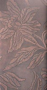 Tecido courvin Floral Vinho - Vivace 05