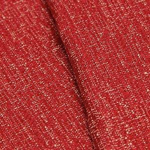 Tecido Jacquard Liso Vermelho e Creme - Marrocos 14