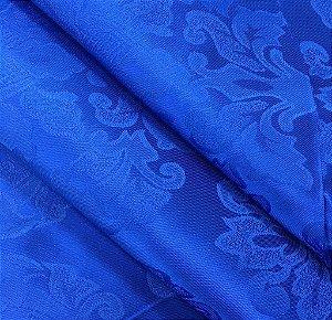 Tecido Jaquard Adamascado Medalhão com 2,80 mts de largura Azul Royal