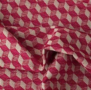 Tecido Para Sofá e Estofado Chenille Versalhes Vermelho -  VES 01