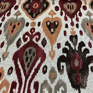 Tecido Para Sofá e Estofado Geométrico Em Tons De Vermelho - Egito 45
