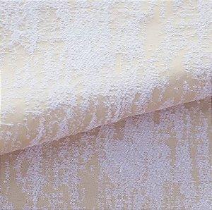 Tecido para Sofá e Estofado Jaquard Amarelo e Branco Ferr - 15