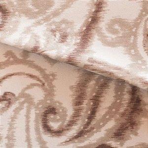 Tecido para Sofá e Estofado Veludo Geométrico bege - MARSE 35