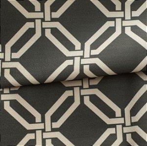 Tecido para Sofá e Estofado Veludo Geométrico Verde Escuro - MARSE 27