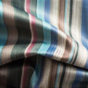 Tecido para Sofá e Estofado Veludo Listrado Bege, Tiffany , Rosa e  Azul - MARSE 05