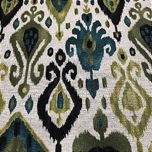 Tecido Para Sofá Geométrico Em Tons De Verde - Egito 07