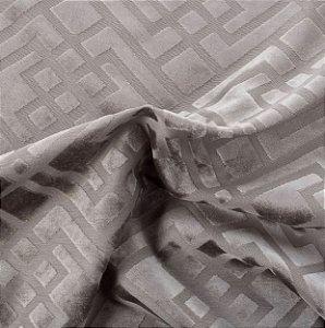 Tecido Veludo Alto-Relevo Geométrico Bege Escuro - Inc 03