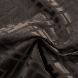 Tecido Veludo Alto-Relevo Geométrico Marrom - Inc 12
