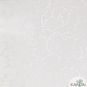 Papel de Parede Grace 3 Arabescos Prata e Branco - 3G202601R