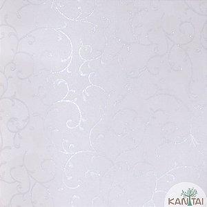 Papel de Parede Grace 3 Arabescos Prata e Branco - 3G202605R