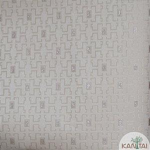 Papel de Parede Grace 3 Labirinto Cinza e Prata - 3G203801R