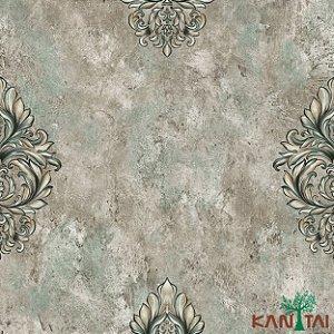 Papel de Parede Moda Em casa 2 Medalhão cimento Tiffany - MD700002R