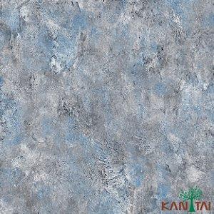 Papel de Parede Moda Em casa 2 Cimento Azul - MD700103R