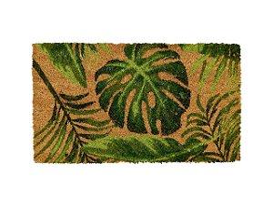Capacho Estampado Folhas 33x60cm 100% Fibra De Coco - 04